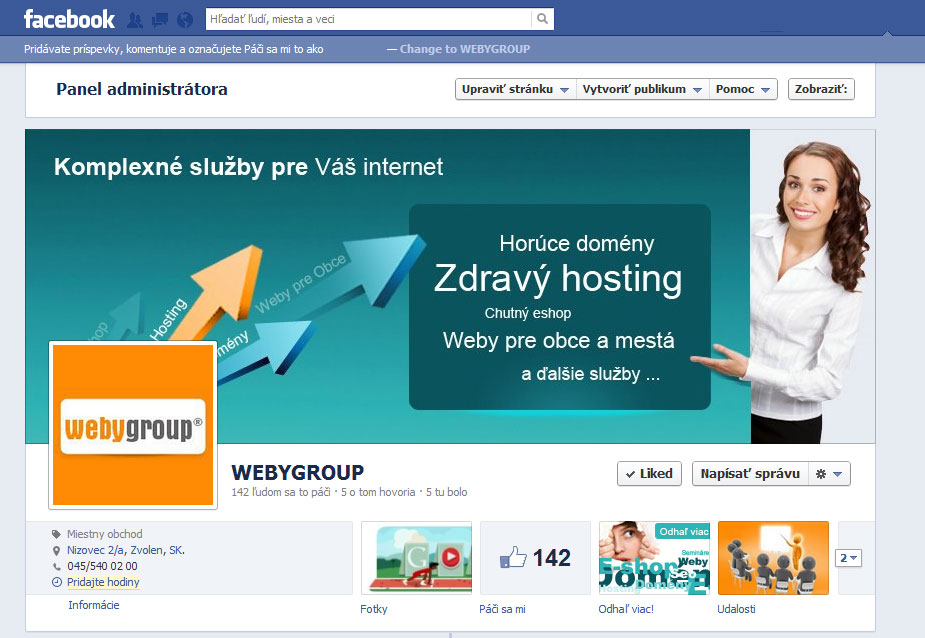 facebook webygroup